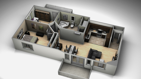 I will sketch up 3d floor plan