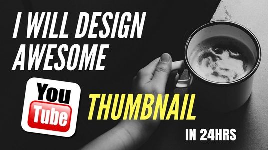 I will Design Awesome Youtube Thumbnail In 24hrs