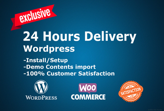 I will install a wordpress theme, Demo, plugin