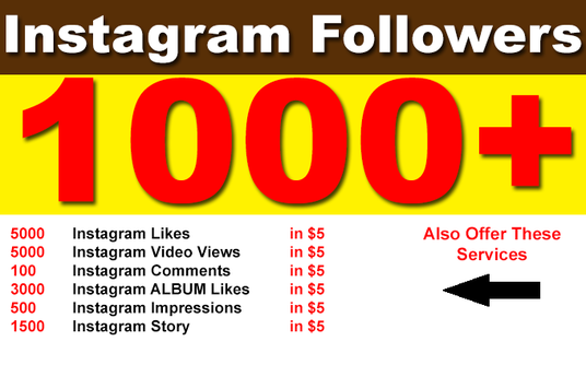 I will Add 1000 Instagram Followers, likes