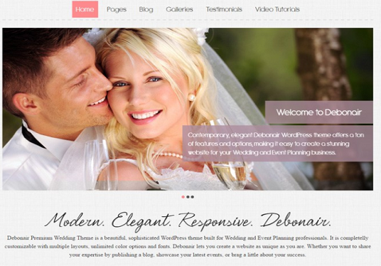 customize WordPress wedding website for your business