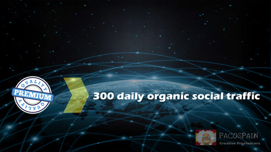 I will provide 300 targeted organic social WEB TRAFFIC for your site for 30 days
