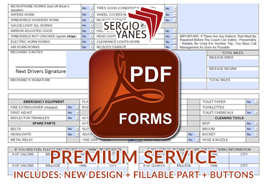 I will design and create a fillable PDF