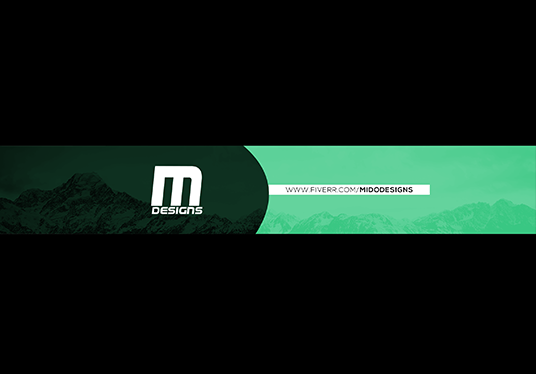 I will create a simple banner or header for youtube or twitter