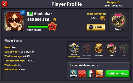I will transfer 100 Million 8 ball pool coins