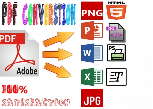 I will Convert PDF To Word Or Excel And Word To Pdf Or Excel
