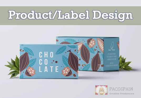 create a product packaging design or label design