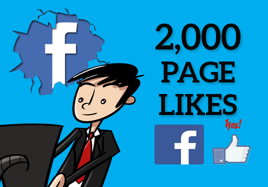 I will add 2,000 Facebook Fan Page Likes