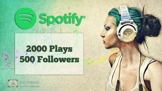 add 500 Spotify followers & 2000 Spotify Plays
