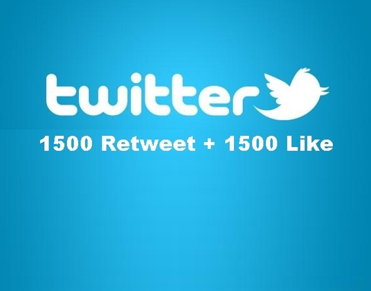 I will give you 1500 Twitter retweets and 1500 Twitter favorites