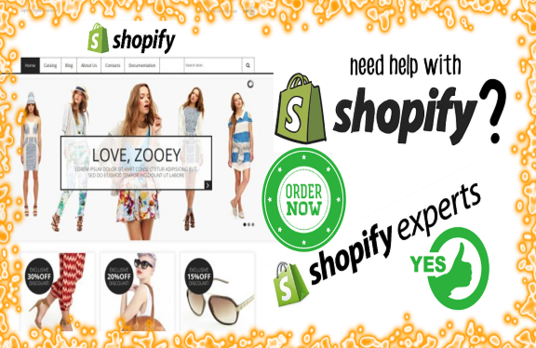 I will develop shopify website, ecommerce store with seo