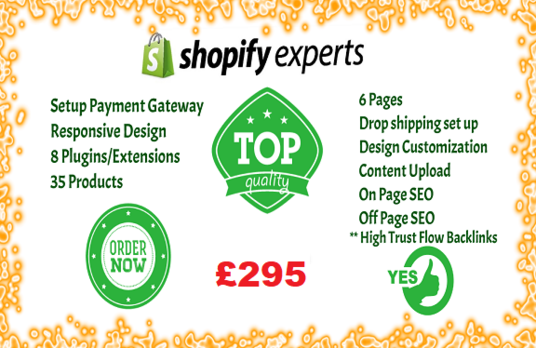 develop shopify website, ecommerce store with seo