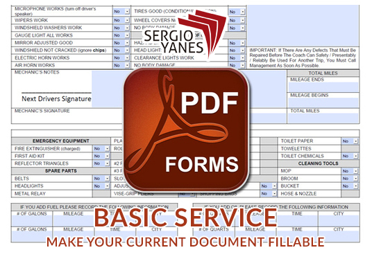 I will convert your current document into a fillable PDF