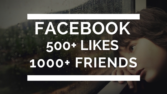 I will send 1000 real facebook friend requests and 500 Facebook likes
