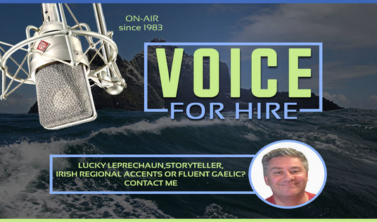 I will do any male IRISH ACCENT voiceover or impersonation you want