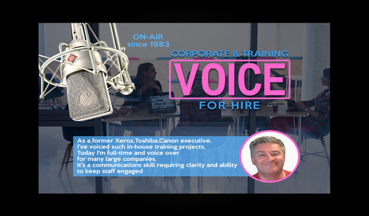 I will create a voice over for Training or Commercial Purposes
