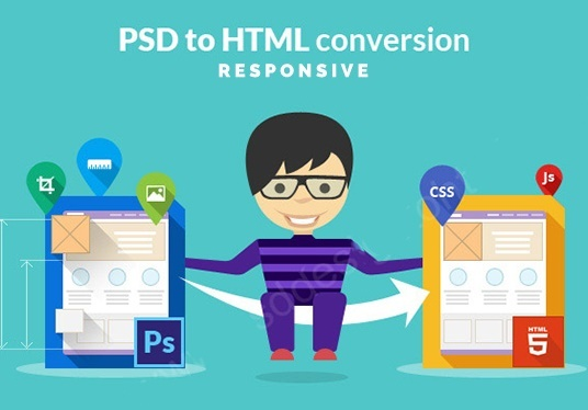 I will Convert Psd,Png,Jpg File To Responsive Html5 Css3 Website