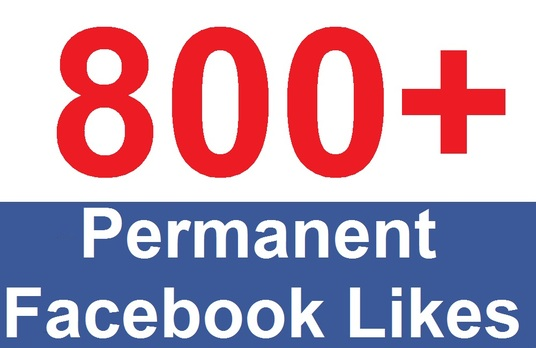 I will add 800+ permanent Facebook likes