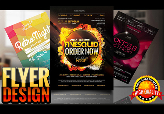 design eye catching flyer or brochure for your business for 10