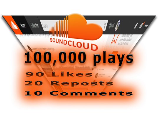 I will give you Premium SoundCloud Package: 100,000 Plays, 90 Likes, 20 Reposts and 10 comments