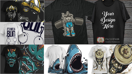 I will design a high quality CUSTOM T-Shirt + FREE bundle of designs as bonus