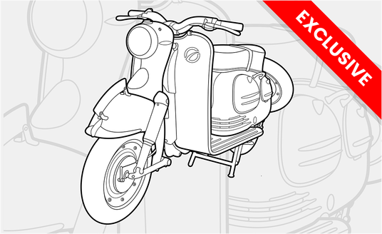 I will turn your car or any vehicle to vector line art cartoon illustration