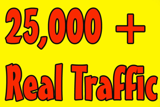I will Give you  25, 000 Real Human Visitors From Google or any Selected traffic source