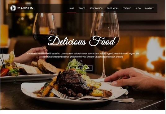 I will develop a  responsive restaurant website