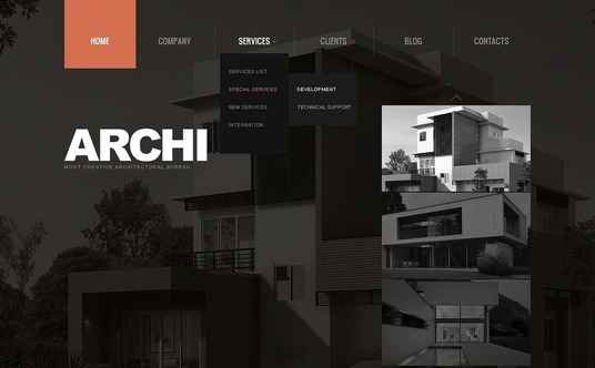 I will develop an architectural firm website