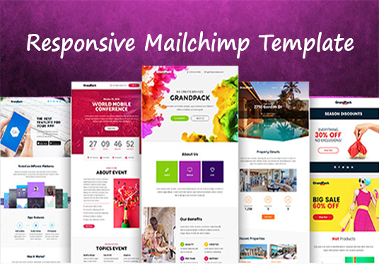 Design Responsive Mailchimp Template For Azher Fivesquid - Mailchimp template tags