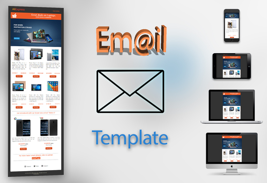 create eye catching responsive email template