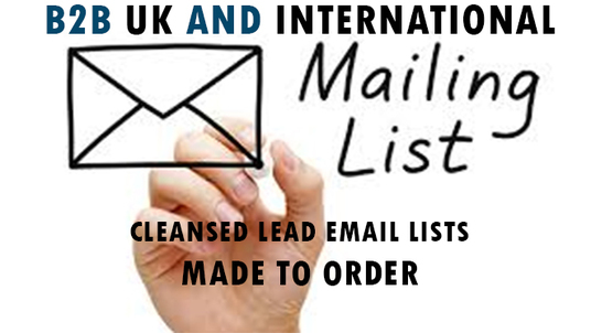 I will Create you a custom Email List Email Scrape Database Social Media. Email Marketing Service