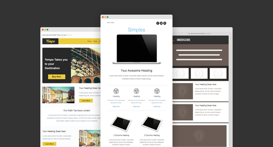 Design Mailchimp Newsletter Template For Templatebazar Fivesquid - Mailchimp newsletter templates