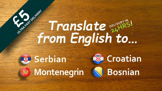 I will translate english to serbian, croatian, bosnian or montenegrin