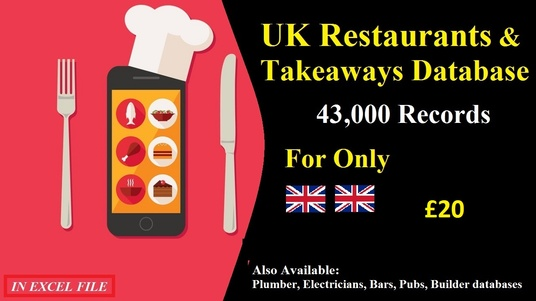 I will Give you UK Restaurants Database with almost 40k Unique Records