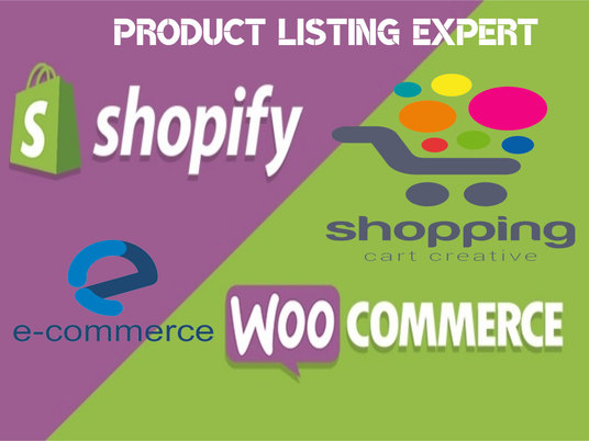 I will Do Products Listing On Shopify, Woocommerce and eBay Store