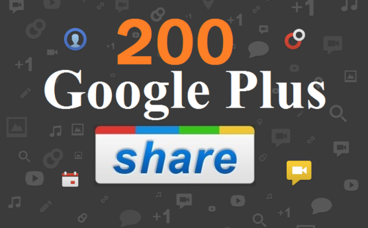 I will do effective 200  Google plus share from 200 Google plus account