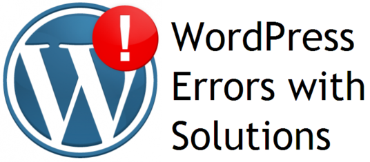 I will fix  wordpress Error,wordpress problem within 24 hours