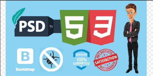 I will Convert PSD to Html CSS Responsive Webpage