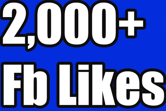 I will Give you 2000+ Nondrop Real Active Permanent High Quality facebook fanpage likes