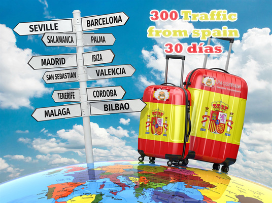 I will send 300+ traffic from Spain for 30 days