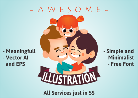 cccccc-Create Flat Illustration Design Based On Your Order