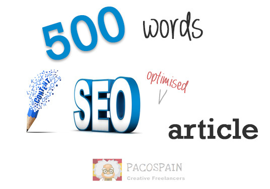 I will write 500 words of SEO driven web content