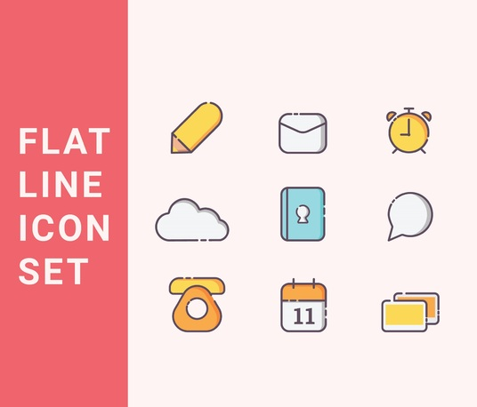 I will  design awesome and modern flat line icon set