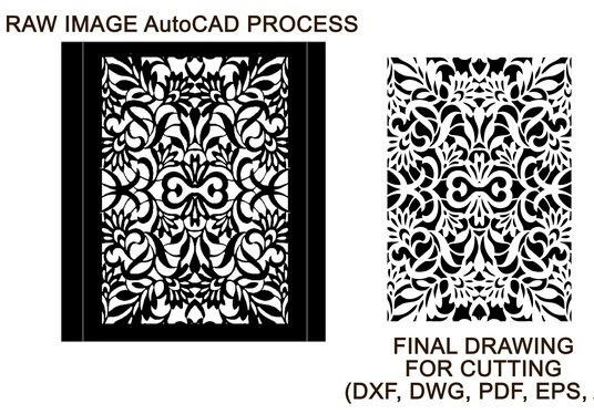 I will convert drawing to dxf file for laser cutting in 24 hours