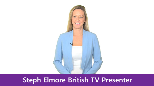 create your British Spokesperson Video, HD, White Screen, Green Screen