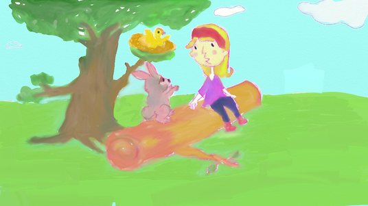 I will create cute, fun, whimsical and childlike illustration