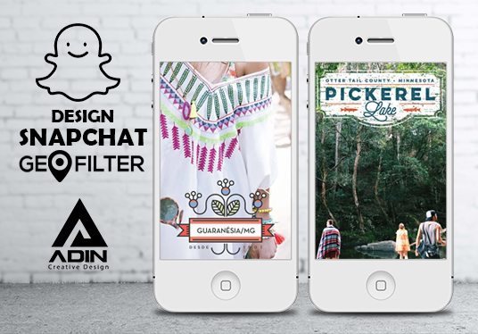 I will design custom Snapchat Geofilter