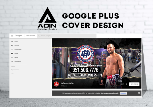 I will design unique attractive GOOGLE Plus cover