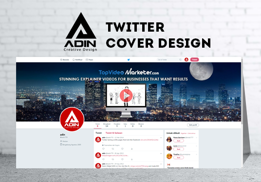 I will Design Twitter Header Cover or Image Post